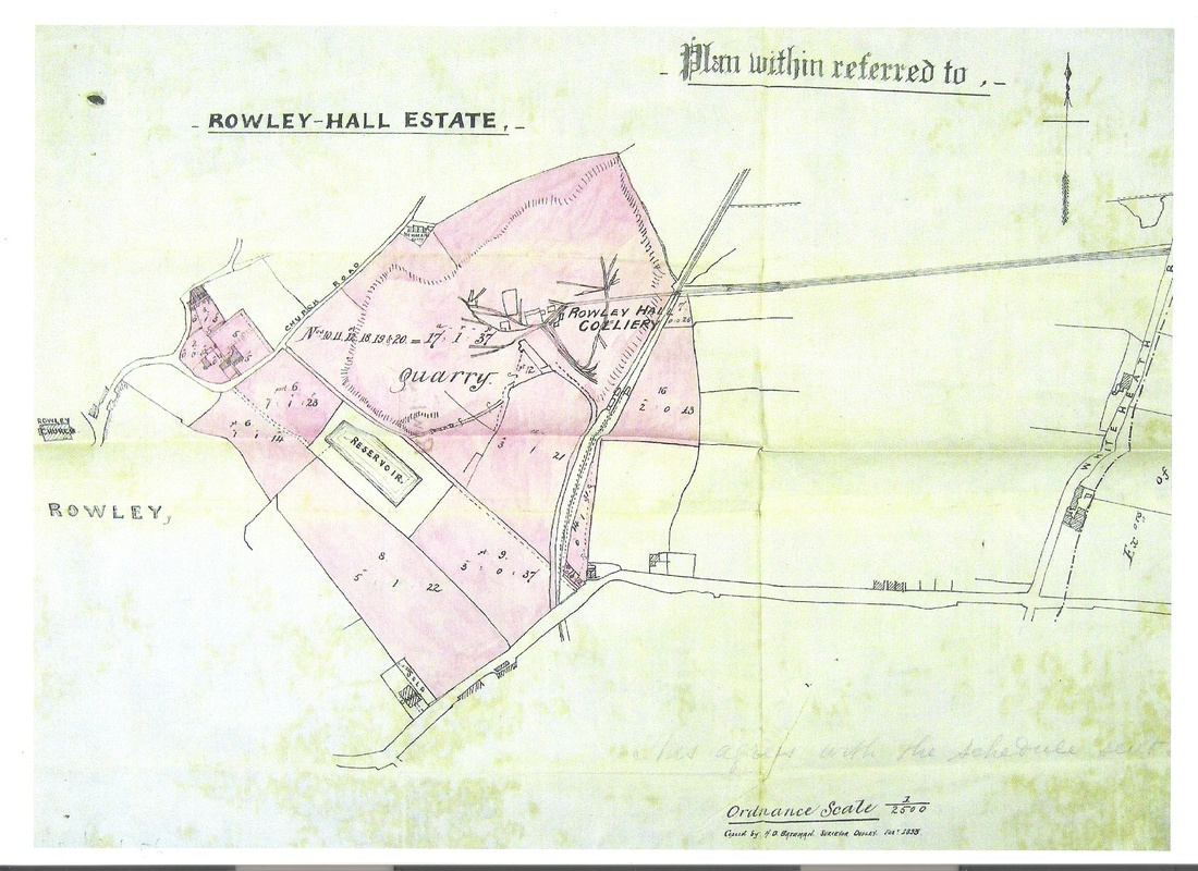 Map of Rowley Hall estate