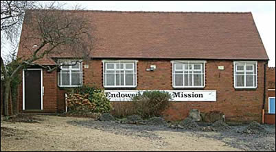 Endowed Mission hall in Rowley Village