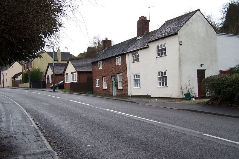 Cottages in Station Rd Old Hill near Gorsty Hill